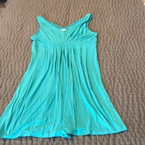 V Front and Back Knit LOFT Mini Dress Size M